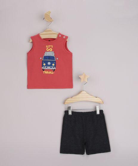 Conjunto-Infantil-Regata--Let-s-go-Travel--Vermelha---Bermuda-Cinza-Mescla-Escuro-9958294-Cinza_Mescla_Escuro_1