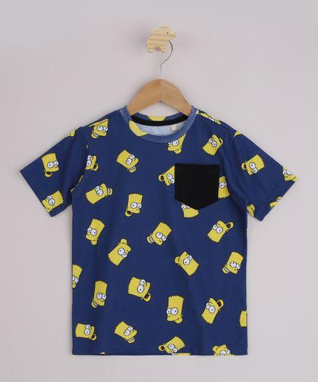 Camiseta-Infantil-Bart-Simpsons-Estampada-Manga-Curta-Azul-9962349-Azul_1