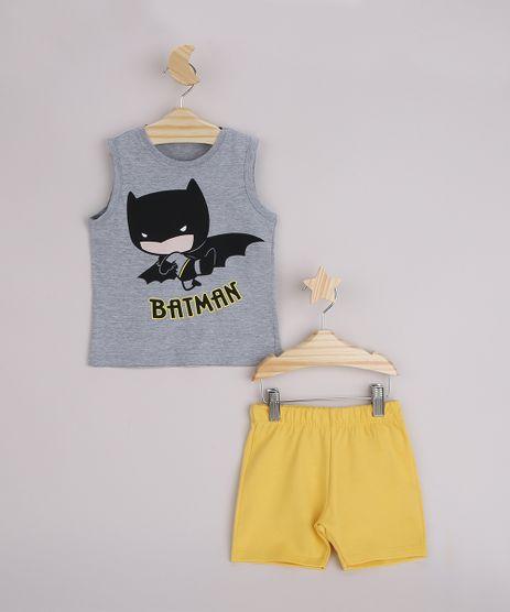 Conjunto-Infantil-Regata-Batman-Cinza-Mescla---Bermuda-Amarelo-9963495-Amarelo_1