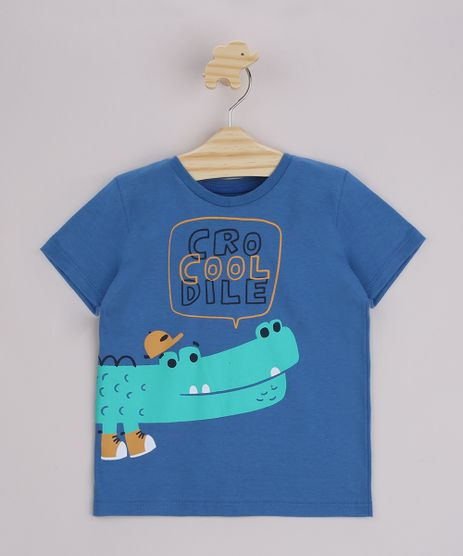 Camiseta-Infantil-Jacare--CroCooldile--Manga-Curta-Azul-9963799-Azul_1