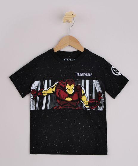 Camiseta-Infantil-Homem-de-Ferro-Manga-Curta-Preta-9955386-Preto_1