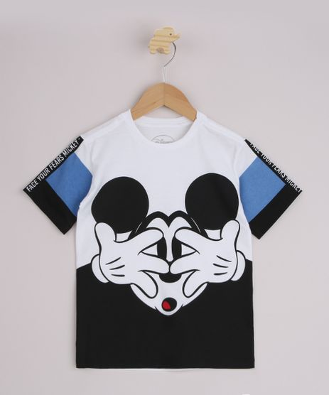 Camiseta-Infantil-Mickey-com-Recortes-Manga-Curta-Preta-9967975-Preto_1