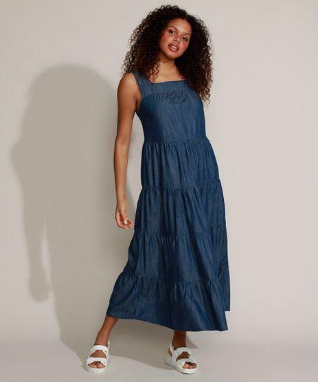 Vestido-Jeans-Feminino-Mindset-Midi-com-Recortes-Alca-Larga-Azul-Escuro-9972974-Azul_Escuro_1