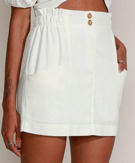 Saia-Feminina-Curta-com-Linho-e-Bolsos-Off-White-9969673-Off_White_1