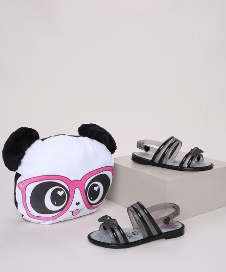 Sandalia-Infantil-Luluca-Panda-Love-com-Laco---Almofada-Panda-Preta-9972485-Preto_1