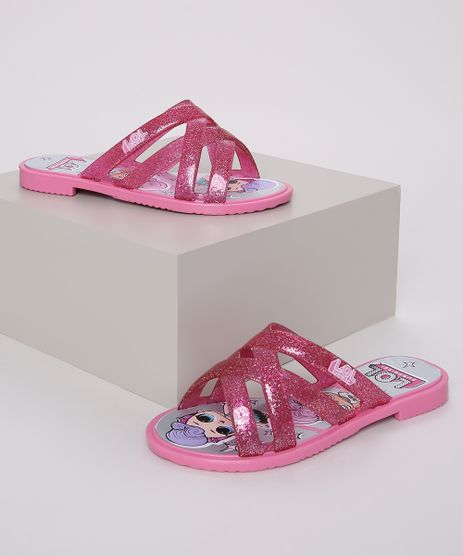 Rasteirinha-Infantil-LOL-Surprise-com-Glitter-e-Tiras-Cruzadas-Pink-9972491-Pink_1