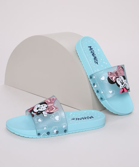 Chinelo-Infantil-Minnie-com-Laco-Slide-Azul-Claro-9970712-Azul_Claro_1