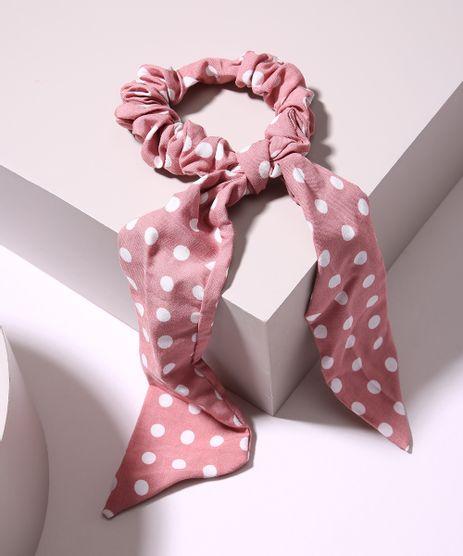 Elastico-de-Cabelo-Scrunchie-Estampado-de-Poa-com-Laco-Rosa-9968558-Rosa_1