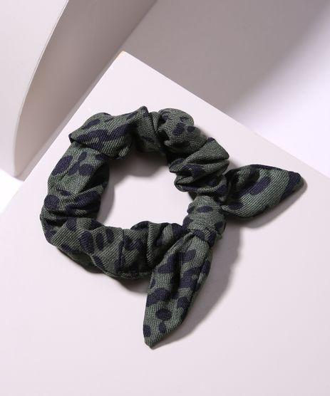 Elastico-de-Cabelo-Scrunchie-Estampado-Animal-Print-com-No-Verde-Militar-9968563-Verde_Militar_1