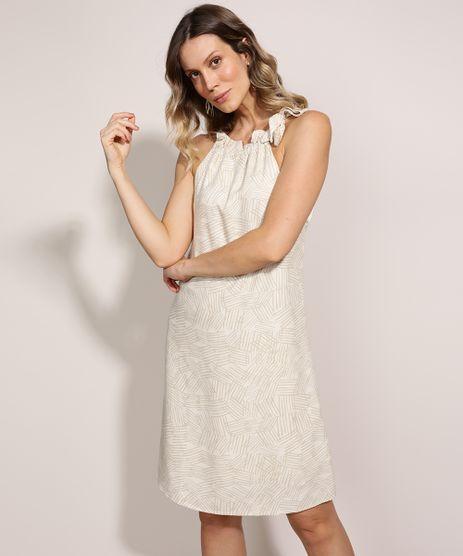 Vestido-Feminino-Curto-Halter-Neck-Estampado-Geometrico-com-Amarracao-Bege-9941760-Bege_1