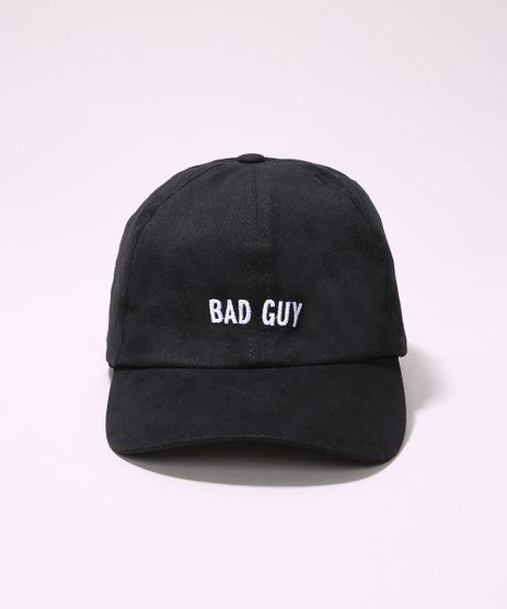 Bone-Masculino-Aba-Curva-com-Bordado--Bad-Guy--Preto-9966348-Preto_1