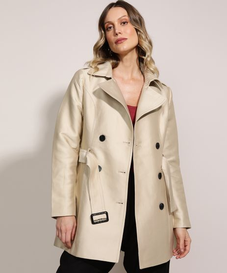 Casaco-Trench-Coat-Feminino-Transpassado-com-Faixa-para-Amarrar-Bege-9814323-Bege_1