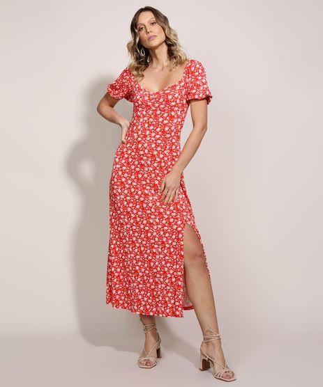 Vestido-Feminino-Midi-Estampado-Floral-Decote-Princesa-Manga-Curta-Bufante-Vermelho-9961285-Vermelho_1