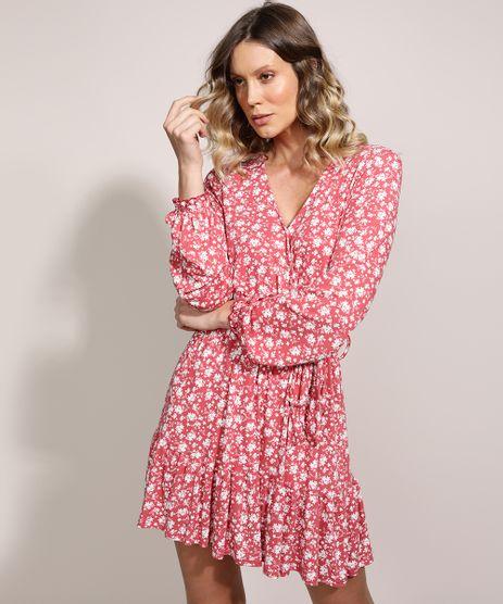 Vestido-Feminino-Curto-Estampado-Floral-com-Transpasse-e-Babado-Manga-Longa-Decote-V-Rose-9961286-Rose_1