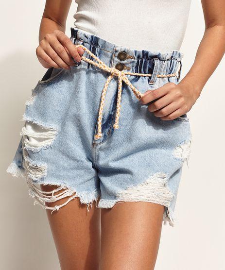 Short-Jeans-Feminino-Clochard-Cintura-Super-Alta-Destroyed-com-Cinto-Cadarco-Azul-Claro-9964982-Azul_Claro_1