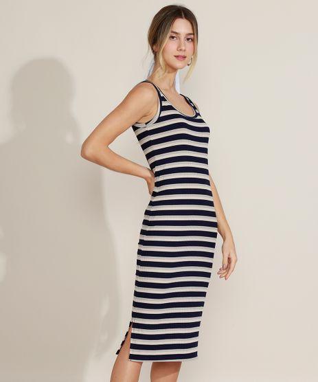 Vestido-Feminino-Midi-Canelado-Listrado-com-Fenda-Alca-Media-Azul-Marinho-9963546-Azul_Marinho_1