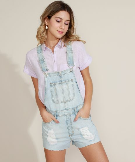 Jardineira-Jeans-Feminina-Destroyed-com-Bolsos-Azul-Claro-9963953-Azul_Claro_1