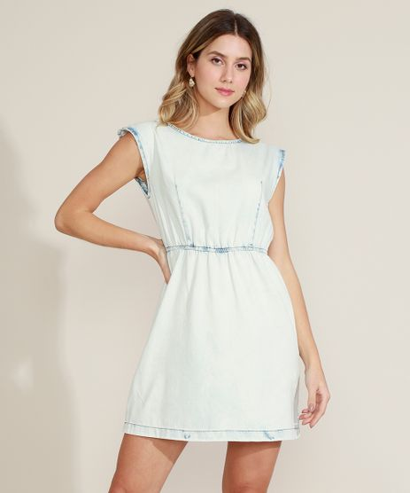 Vestido-Jeans-Feminino-com-Elastico-e-Ombreira-Azul-Claro-9964535-Azul_Claro_1