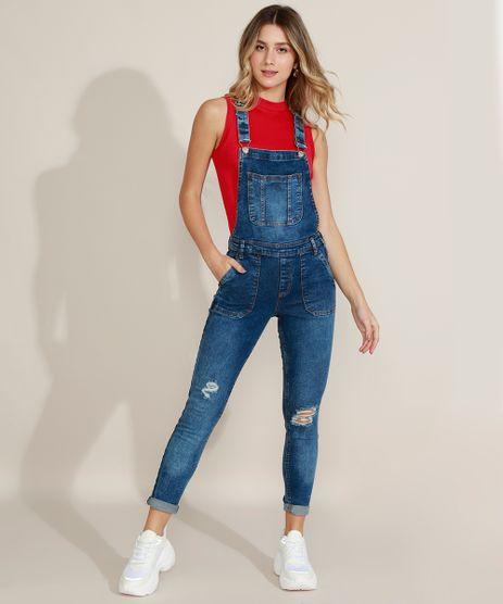 Macacao-Jeans-Feminino-Destroyed-com-Bolsos-Azul-Escuro-9971962-Azul_Escuro_1
