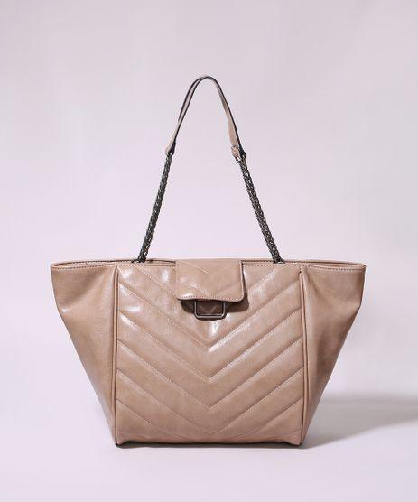 Bolsa-de-Ombro-Feminina-Shopper-Grande-Matelasse-Bege-9915804-Bege_1