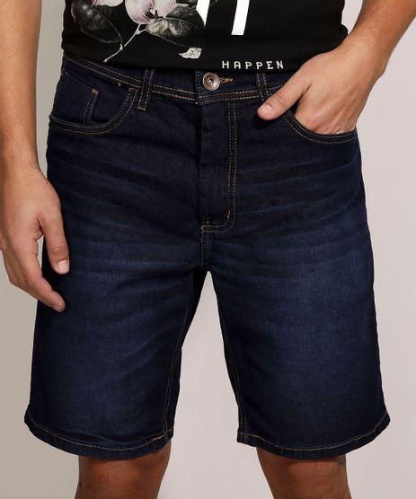 Bermuda-Jeans-Masculina-Slim-com-Bolsos-Azul-Escuro-9963662-Azul_Escuro_1