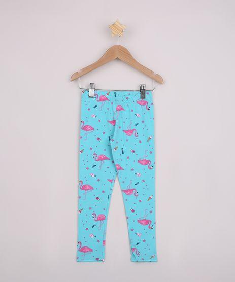 Calca-Legging-Infantil-Estampada-de-Flamingos-Verde-Agua-9953607-Verde_Agua_1