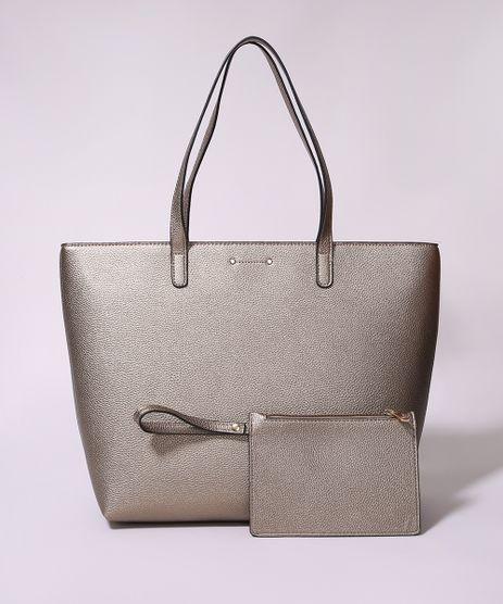 Bolsa-de-Ombro-Feminina-Shopper-Grande-com-Carteira-Dourada-9945776-Dourado_1