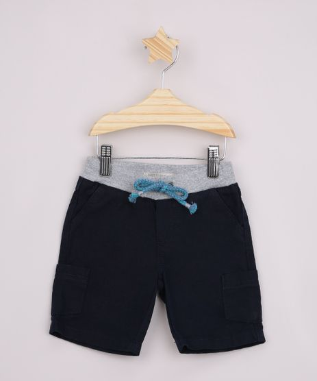 Bermuda-de-Sarja-Infantil-com-Bolsos-Cos-Canelado-Azul-Marinho-9963231-Azul_Marinho_1