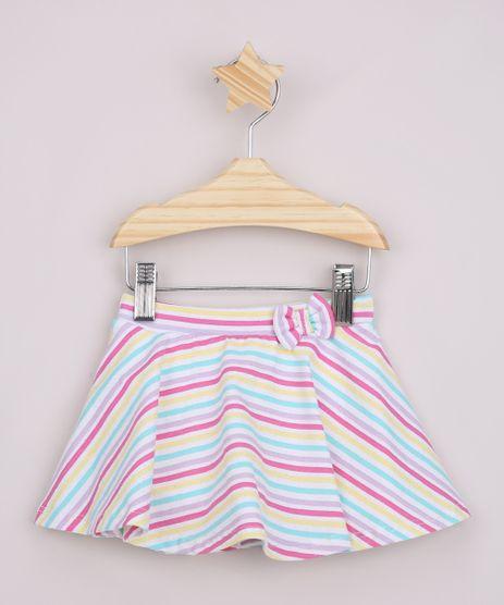 Short-Saia-Infantil-Estampado-Listrado-com-Laco-e-Glitter-Off-White-9964690-Off_White_1