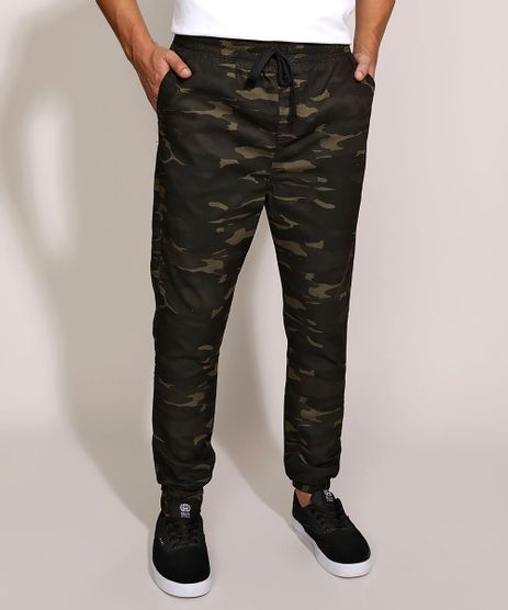 Calca-de-Sarja-Masculina-Jogger-Skinny-Estampada-Camuflada-Verde-Escuro-9583523-Verde_Escuro_1