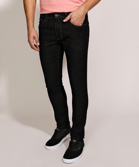 Calca-Jeans-Masculina-Skinny-com-Bolsos-Preta-9962765-Preto_1
