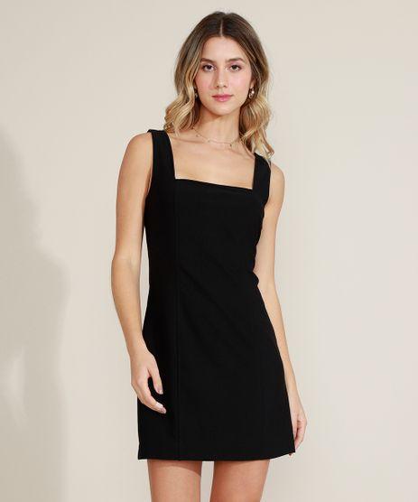 Vestido-Feminino-Curto-Reto-Decote-Quadrado-Alcas-Largas-Preto-9973003-Preto_1