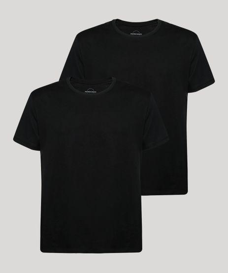 Kit-de-2-Camisetas-Masculinas-Basicas-Manga-Curta-Gola-Careca-Preto-9965574-Preto_1