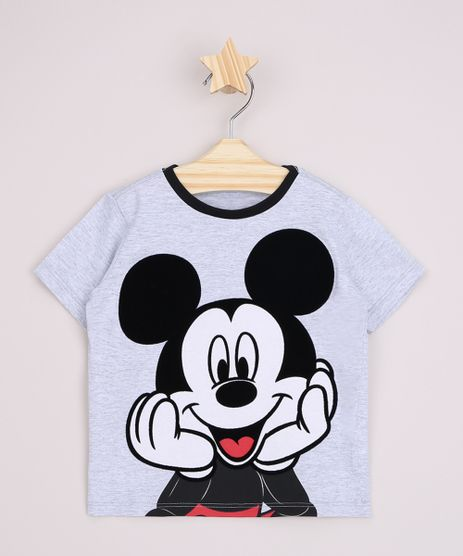 Camiseta-Infantil-Mickey-Flocada-Manga-Curta-Cinza-Mescla-9964187-Cinza_Mescla_1