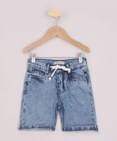 Short-Jeans-Infantil-Reto-com-Cordao-e-Bolsos-Azul-Medio-9968890-Azul_Medio_1
