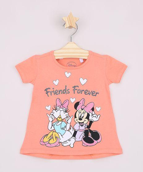 Blusa-Infantil-Ampla-Margarida-e-Minnie--Friends-Forever--Manga-Curta-Coral-9965639-Coral_1