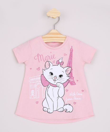 Blusa-Infantil-Ampla-Marie--With-Love-From-Paris--Manga-Curta-Rosa-9967464-Rosa_1