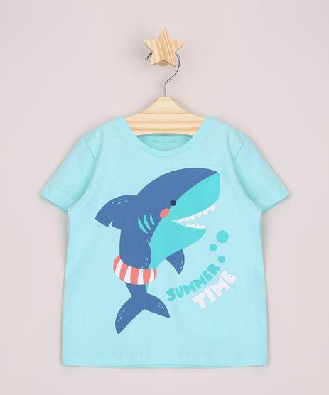 Camiseta-Infantil-Tubarao--Summer-Time--Manga-Curta-Verde-Agua-9963800-Verde_Agua_1