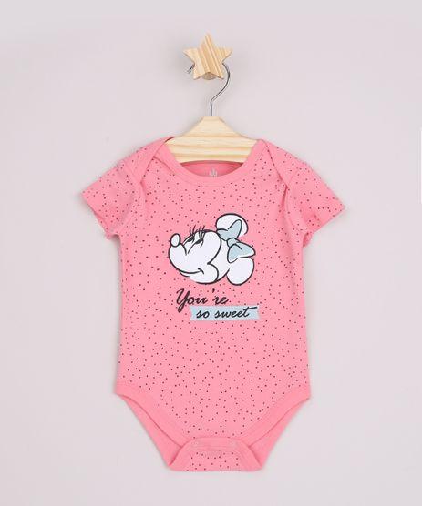 Body-Infantil-Minnie--You-re-so-Sweet--Estampado-de-Poa-Manga-Curta-Rosa-9839868-Rosa_1