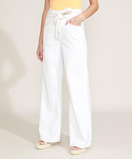 Calca-de-Sarja-Feminina-Wide-Pantalona-Cintura-Super-Alta-com-Cinto-Off-White-9963973-Off_White_1