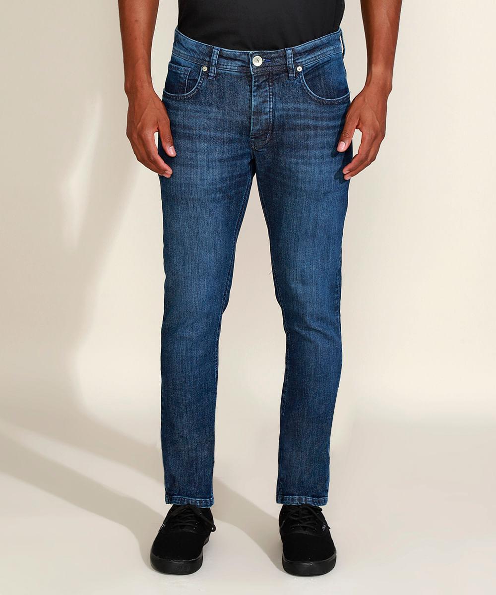 Calça Jeans Masculina Ciclos Slim Azul Escuro