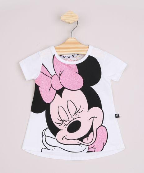 Blusa-Infantil-Ampla-Minnie-com-Glitter-Manga-Curta-Off-White-9967473-Off_White_1