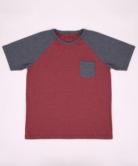 Camiseta-Juvenil-Raglan-com-Bolso-Manga-Curta-Gola-Careca-Vermelha-9952126-Vermelho_1