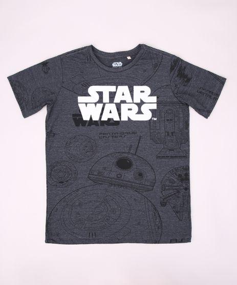 Camiseta-Juvenil-Star-Wars-Estampada-Manga-Curta-Gola-Careca-Cinza-Mescla-Escuro-9953864-Cinza_Mescla_Escuro_1