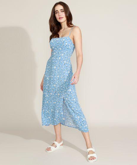Vestido-Feminino-Mindset-Midi-Estampado-Floral-com-Fenda-Alca-Fina-Azul-Claro-9974059-Azul_Claro_1