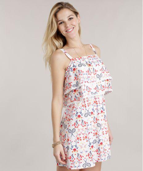 d525a04551 Vestido-Estampado-Floral-com-Renda-Off-White-8610140-