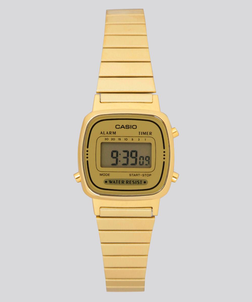 e8010d5ef2c Relógio Digital Casio Feminino - LA670WGA9DFU Dourado - ceacollections