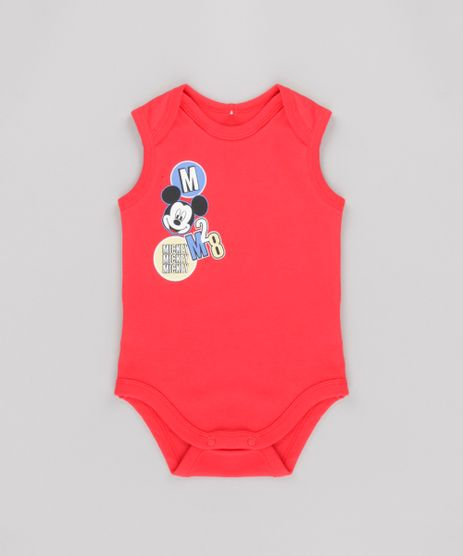 Body-Mickey-em-Algodao---Sustentavel-Vermelho-8646888-Vermelho_1