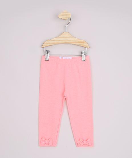 Calca-Legging-Infantil-Basica-Laco-e-Cos-com-Elastico-Rosa-Neon-9970650-Rosa_Neon_1