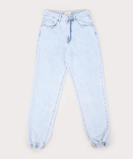 Calca-Jeans-Juvenil-Jogger-com-Bolsos-Azul-Claro-9966616-Azul_Claro_1